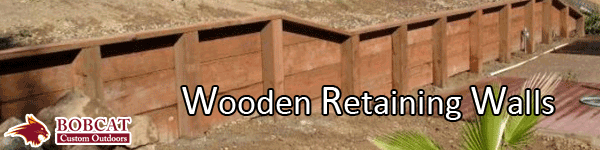 wooden retaining walls, wood retaining walls frisco, allen retaining walls