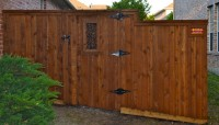 6' Side by Side Gate with Iron