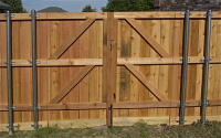 Reverse View of a Double Gate