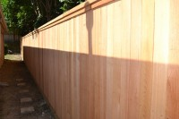 Side by Side Fence with Clear Cedar