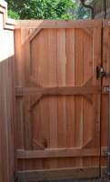 Custom Gate with Clear Cedar