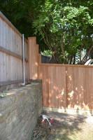 Step & Level at the Retaining Wall
