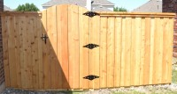 6' Board on Board Custom Arch Gate with Double Trim- #1 Cedar Pickets