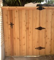 6' Board on Board Standard Gate with #1 Cedar Pickets- Double Trim
