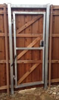 retro-fit steel frame gates with punch code lock